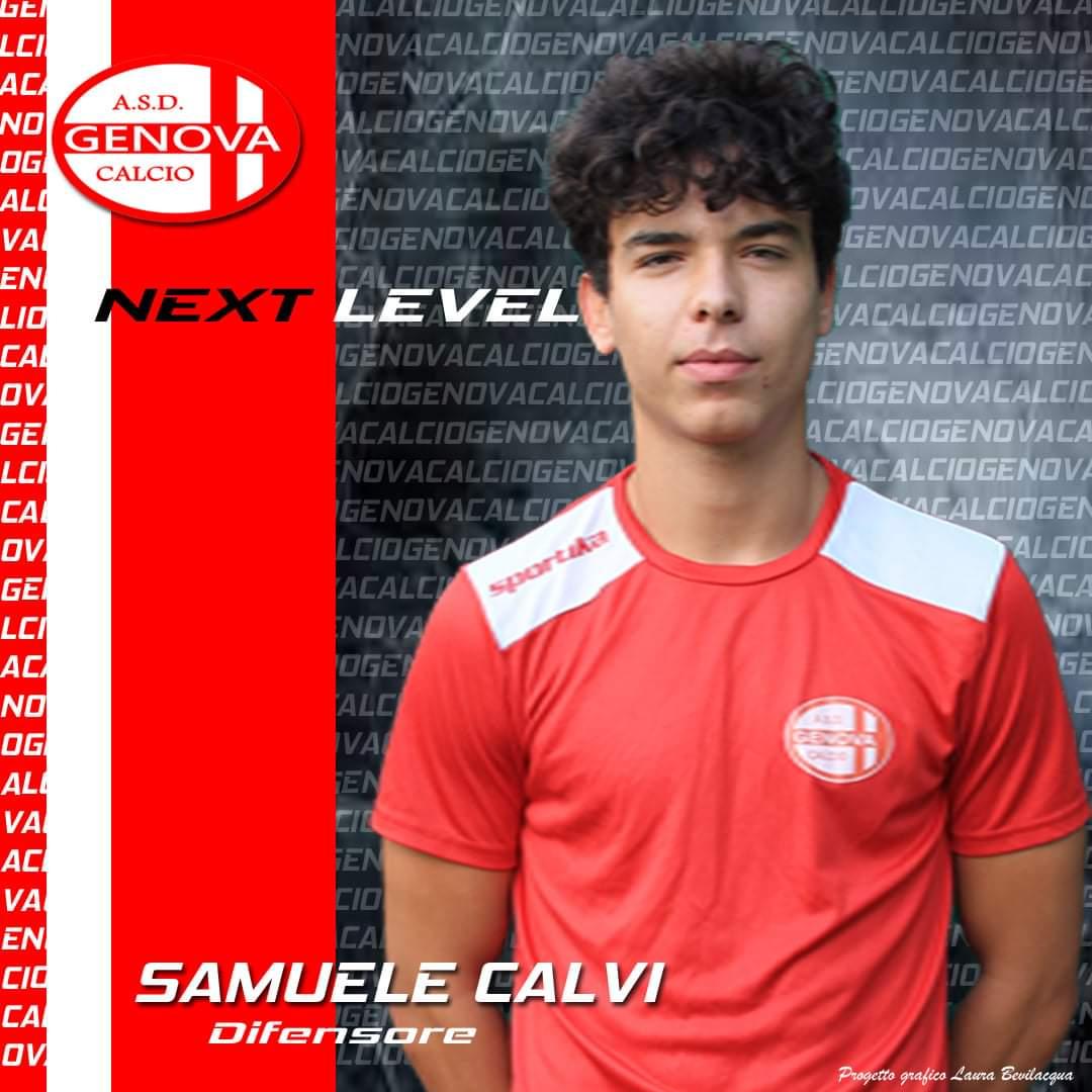 Samuele Calvi confermato A.S.D.Genova Calcio comunica la riconferma del difensore classe 2002 Samuele Calvi.